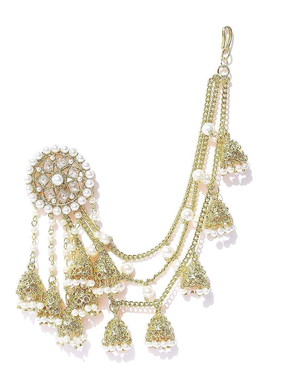 Buy Manath Gold Bahubali Jhumki Earrings With 5 Jhumka In Ear