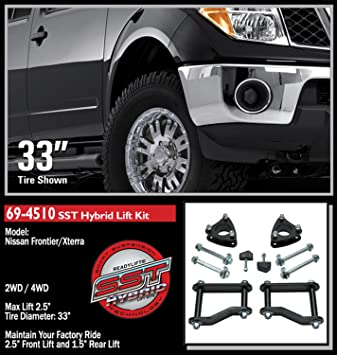 """For 2005-2020 Frontier Equator 2WD 4WD Black Alloy Rear 2/"""" Lift Kit"""