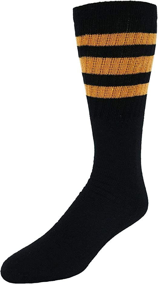 80D Contrast Striped Top Over the Knee Socks