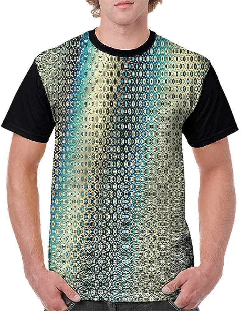 Unisex T-Shirt,Geometric Circles Wave Fashion Personality Customization