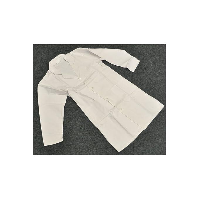 Kokott Bata de Laboratorio Niños Bata algodón Blanco Pintor Abrigo niños, Blanco, 140 / L: Amazon.es: Hogar