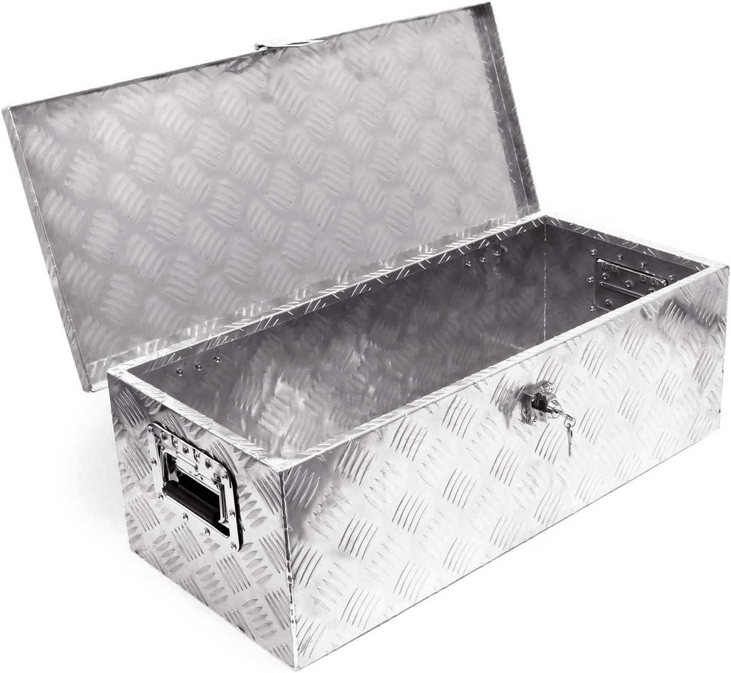 Grafner® Alu Transportbox Transportkiste 145x52x46 cm Werkzeugkasten Box Kiste