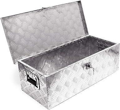 Caja herramientas aluminio 760x320x245mm Caja transporte Orden Taller Garaje Cofre Ordenación: Amazon.es: Bricolaje y herramientas