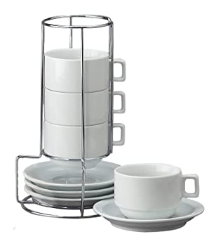 HIC 9-Piece Stackable Cappuccino Cups