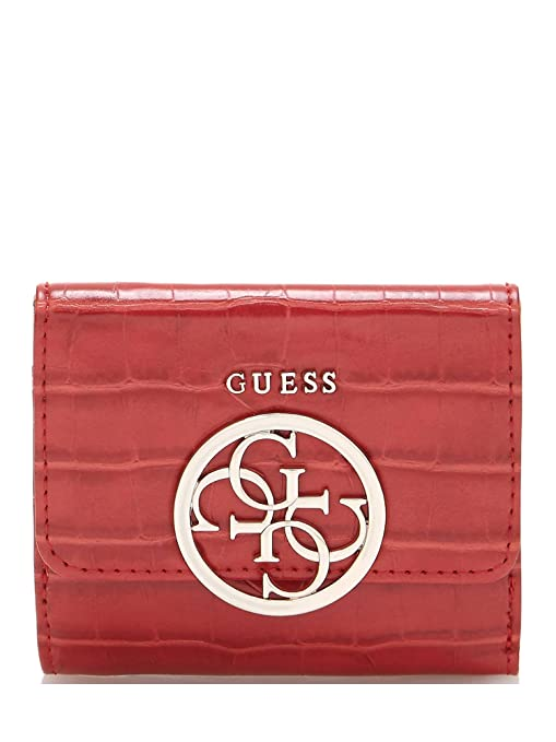 Guess - Cartera para mujer Rojo Red Kamryn SLG Small Wallet ...