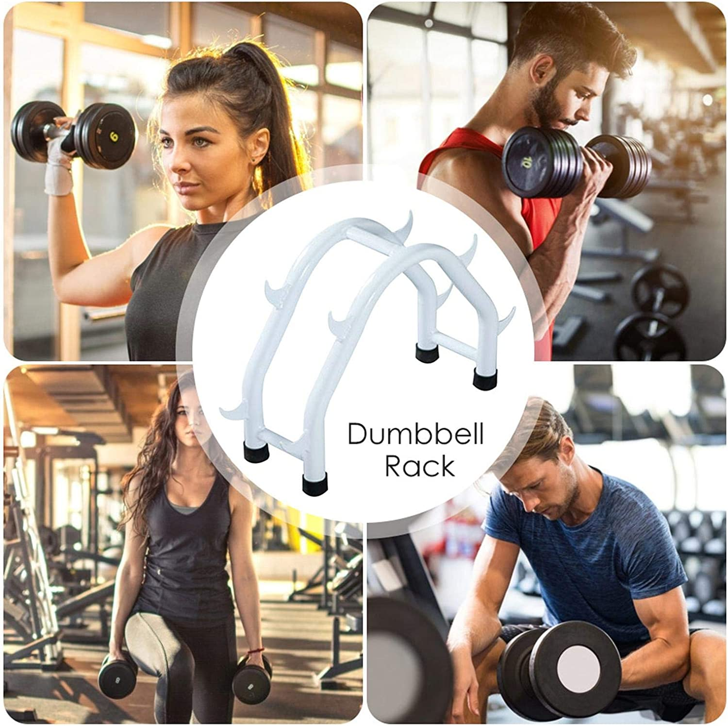 feichanghao Steel Dumbbell Rack Compact Dumbbell Rack Free Weight Stand For Home Gym Dumbbell Holder