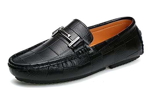 Boy's Men's Rubber Sole Slip-On Synthetic Penny Loafers