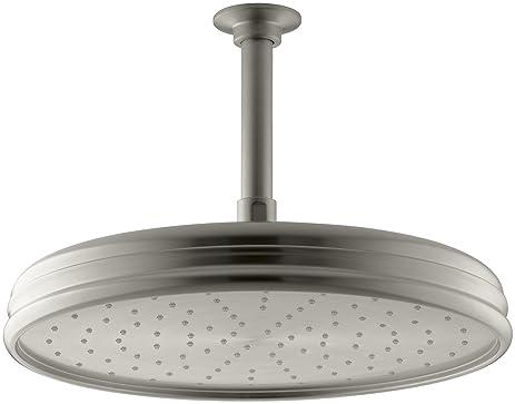 kohler k13694bn traditional 12inch round rain showerhead with katalyst spray