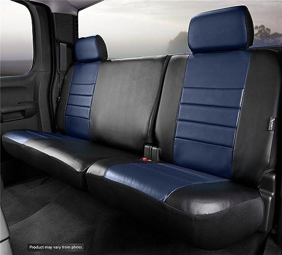 Fia SL69-40 BLK//BLK Custom Fit Front Seat Cover Split Seat 40//20//40 Solid Black Leatherette
