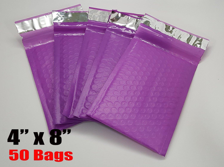 Imbaprice 50-pack # 000/ 10,2/x 20,3/cm colore viola self Seal Poly Bubble Mailers busta imbottita totale di 50/pezzi