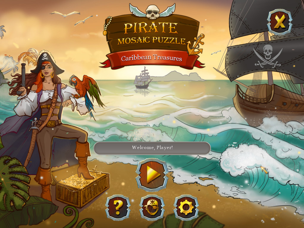 Pirate Mosaic Puzzle: Caribbean Treasures [Download] Pirates Of The Caribbean Pc Game
