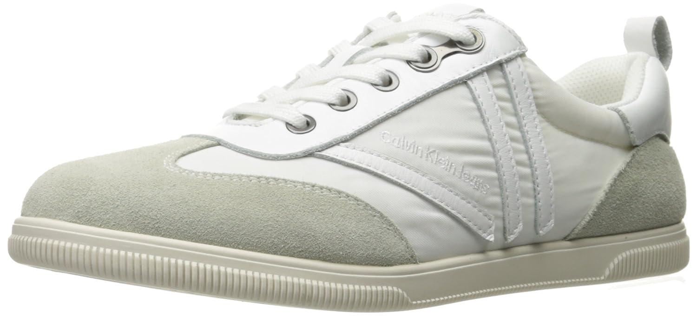 Calvin Klein Jeans Women's Sally Washed N Fashion Sneaker B01N1IRKJA 9 M US White