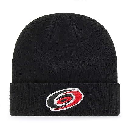 a575eda8e14  47 Carolina Hurricanes Black Cuff Beanie Hat - NHL Cuffed Winter Knit  Toque Cap