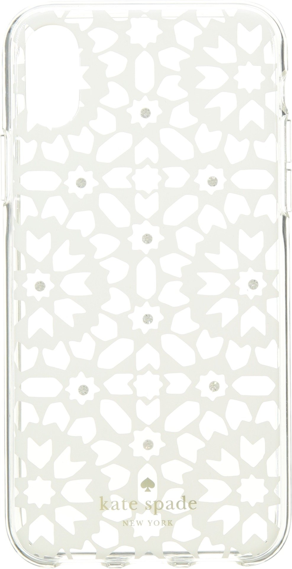Kate Spade New York Women's Jeweled Floral Mosaic Clear Phone Case for iPhone X Clear Multi One Size