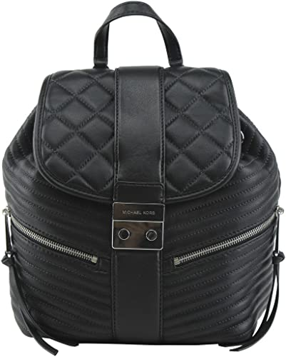e63cce01f2d6 Michael Kors Elisa Quilted Black Leather Backpack Black Leather ...