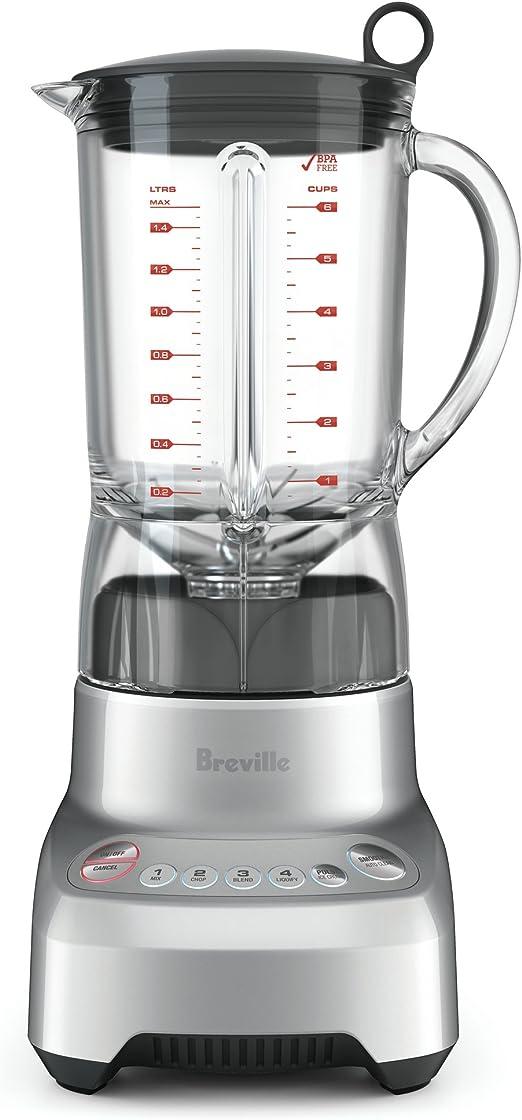 Breville bbl560 X L hemisferio suave licuadora, color plateado ...