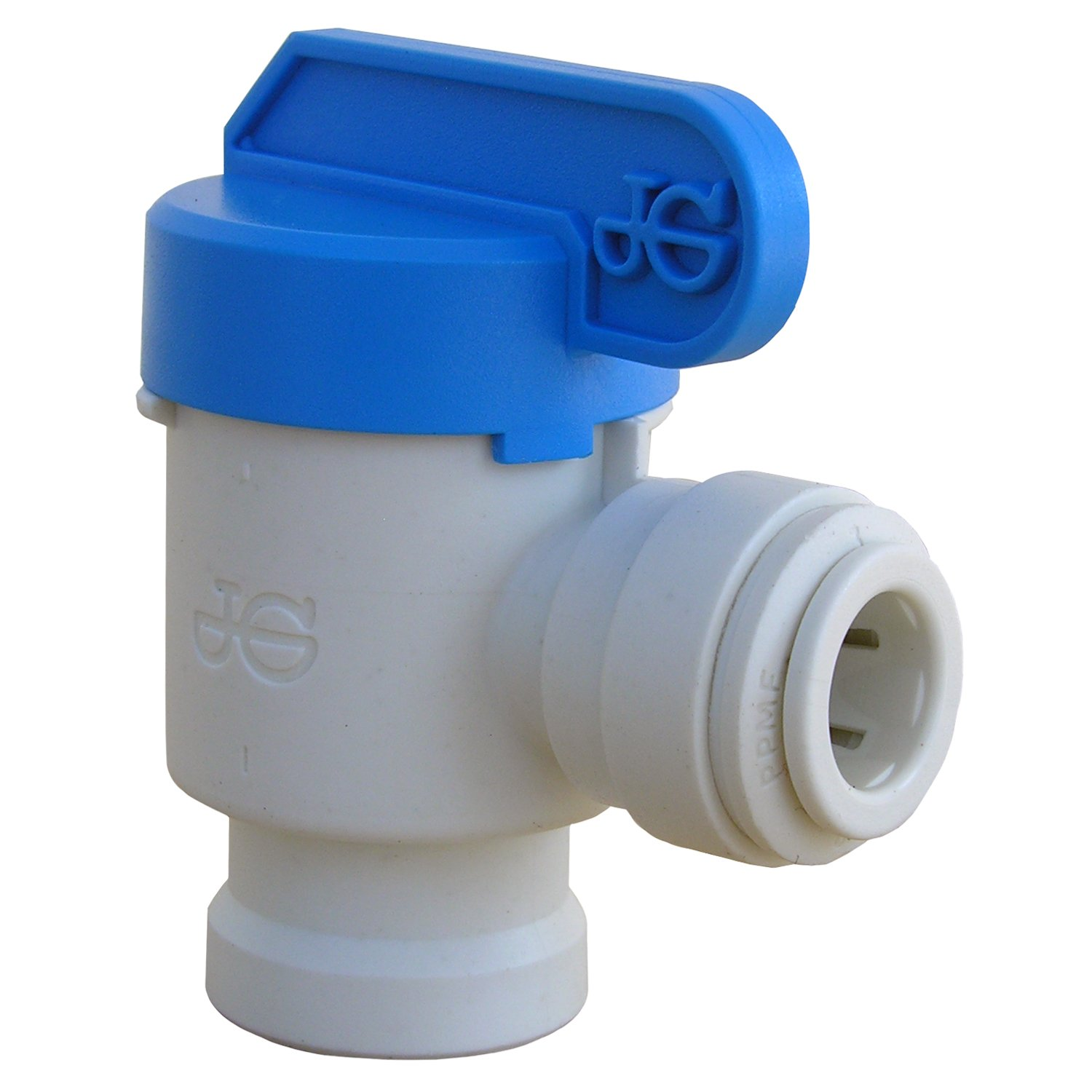 LASCO 19-6523 Angle Shut Off Valve Push-in Fitting with 3//8-Inch OD Tubing and 3//8-Inch Female Pipe Thread Plastic