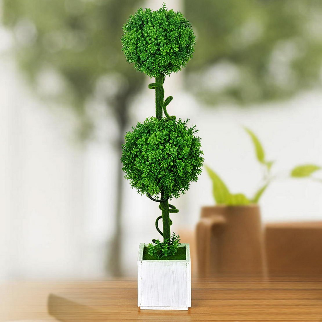 donfohy Rural countryside home decorations artificial plants potted bonsai trees small living room table ornaments