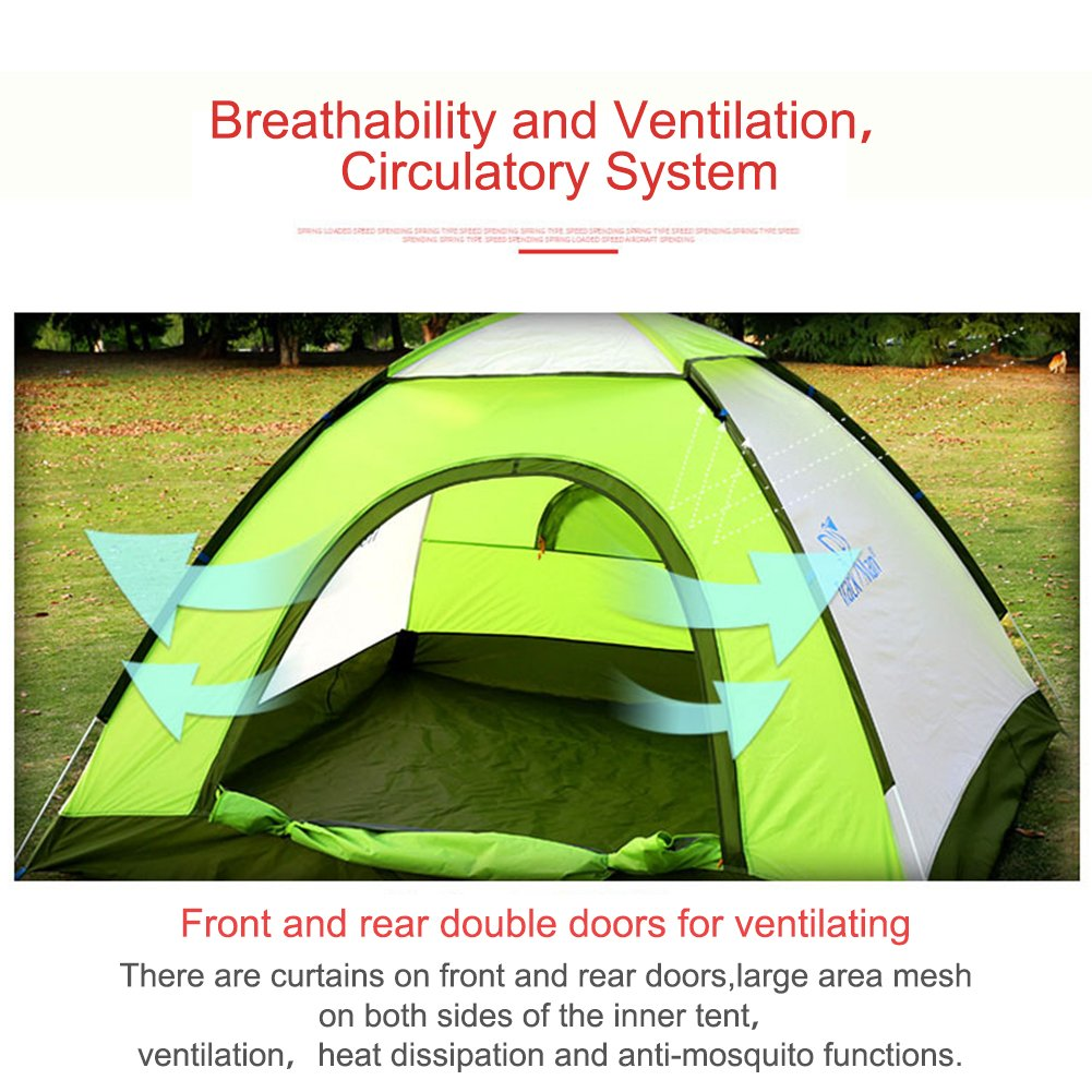 Micrael Home Leichte 2 Sekunden Werfen Zelt 3-4 Person Wasserdicht Strand Winddicht Strand Wasserdicht Zelt Camping Sun Shelter für Outdoor Wandern Reisen 294354