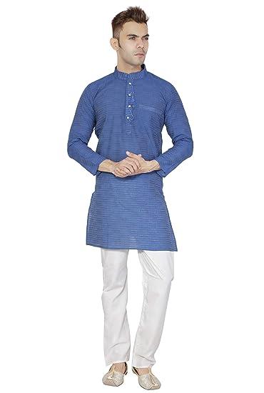 Amazon Com Indian Kurta Pajama For Men Cotton Long Sleeve Shirt