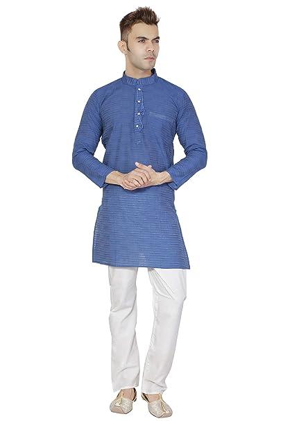 Pijama Kurta Indio Hecho a Mano Tradicional Camisa de algodón de Manga  Larga Vestido de Pijama Ropa de Bollywood  Amazon.es  Ropa y accesorios 6a459ccf38259