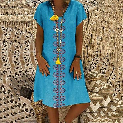 Mini mujer Redondo Camiseta Casual Suelto Wave166 Vestidos De Cuello Nn0vm8wO