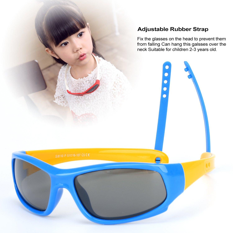 Hifot bébé garçon fille lunettes de soleil, protection UV Polarized Toddler  lunettes de soleil, 82eddb8377cf