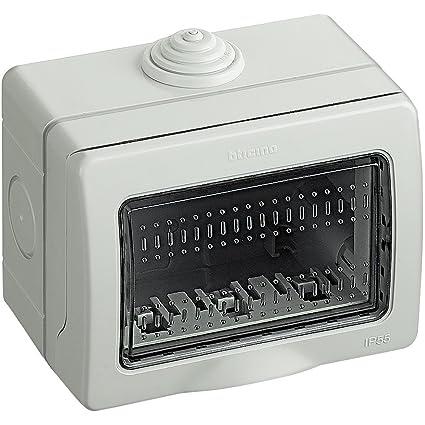 bticino 25503 De plástico IP55 Caja eléctrica - Caja para Cuadro eléctrico (100 mm,