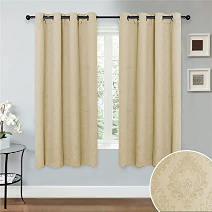 70 Inch Long Curtains.Abreeze Blackout Curtains And Drapes For Window Window Treatment Curtains Panel For Living Room 1 Panel 51 Wide X 70 Inch Long Beige