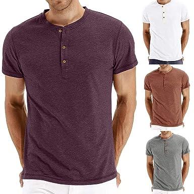 Quinny - Camiseta de Manga Corta para Hombre, Cuello en V, Manga ...