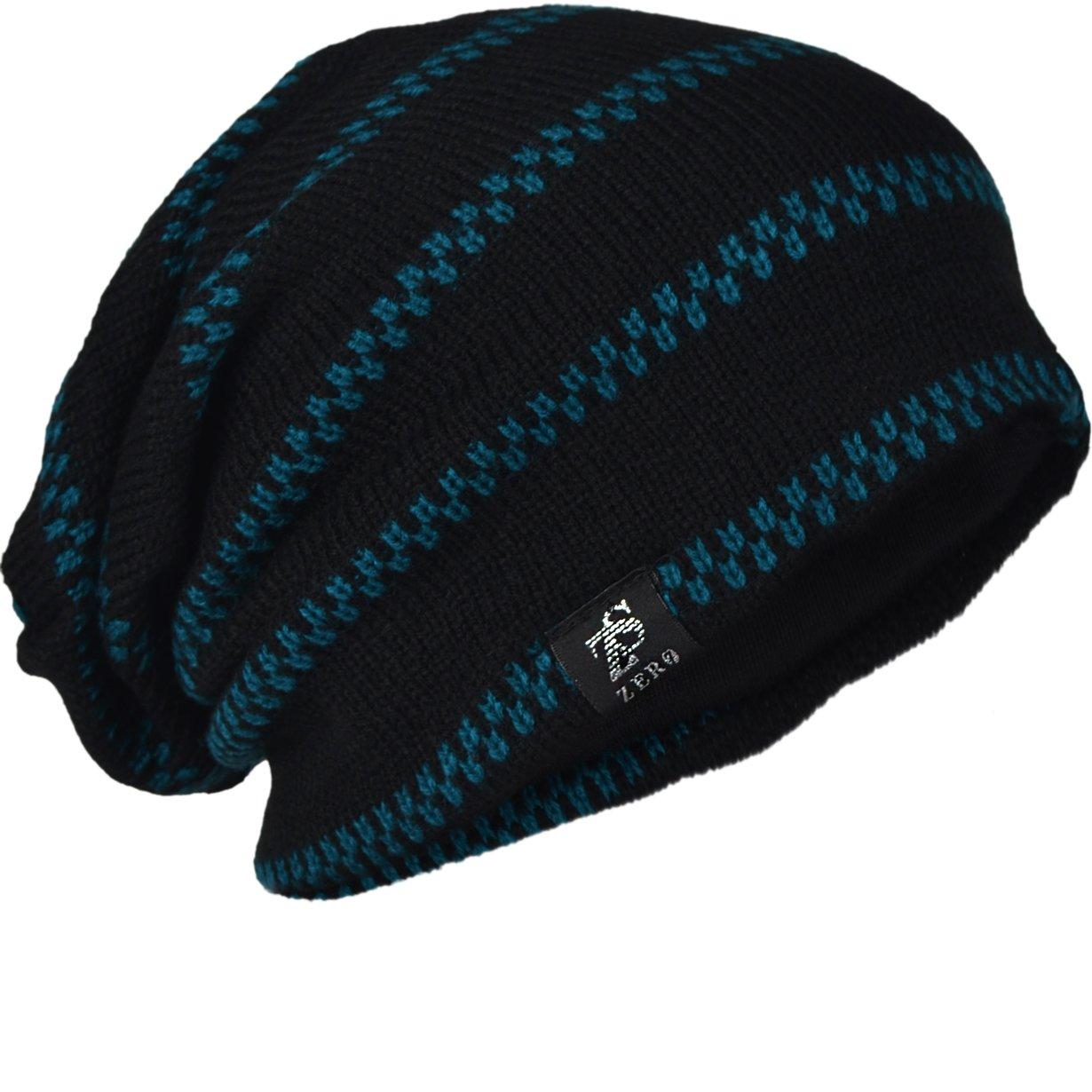 13445c8227d FORBUSITE Men Knit Slouchy Summer Beanie Skull Cap Winter Hat B734 (Black)  at Amazon Men s Clothing store