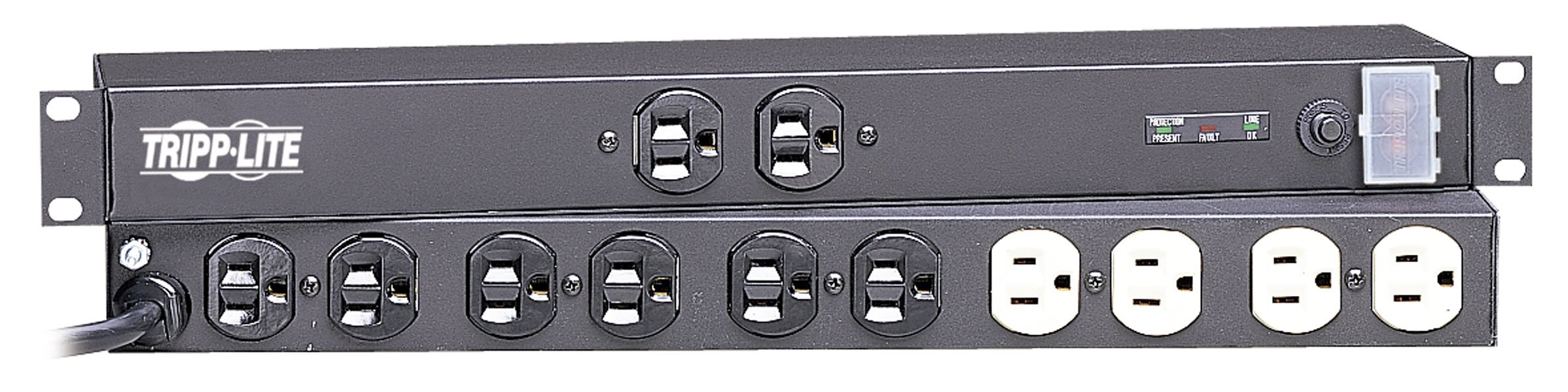 Tripp Lite 12 Outlet Isobar Network-Grade Rackmount PDU, 15A Surge Protected Power Strip, 15ft Cord with 5-15P (IBAR12)