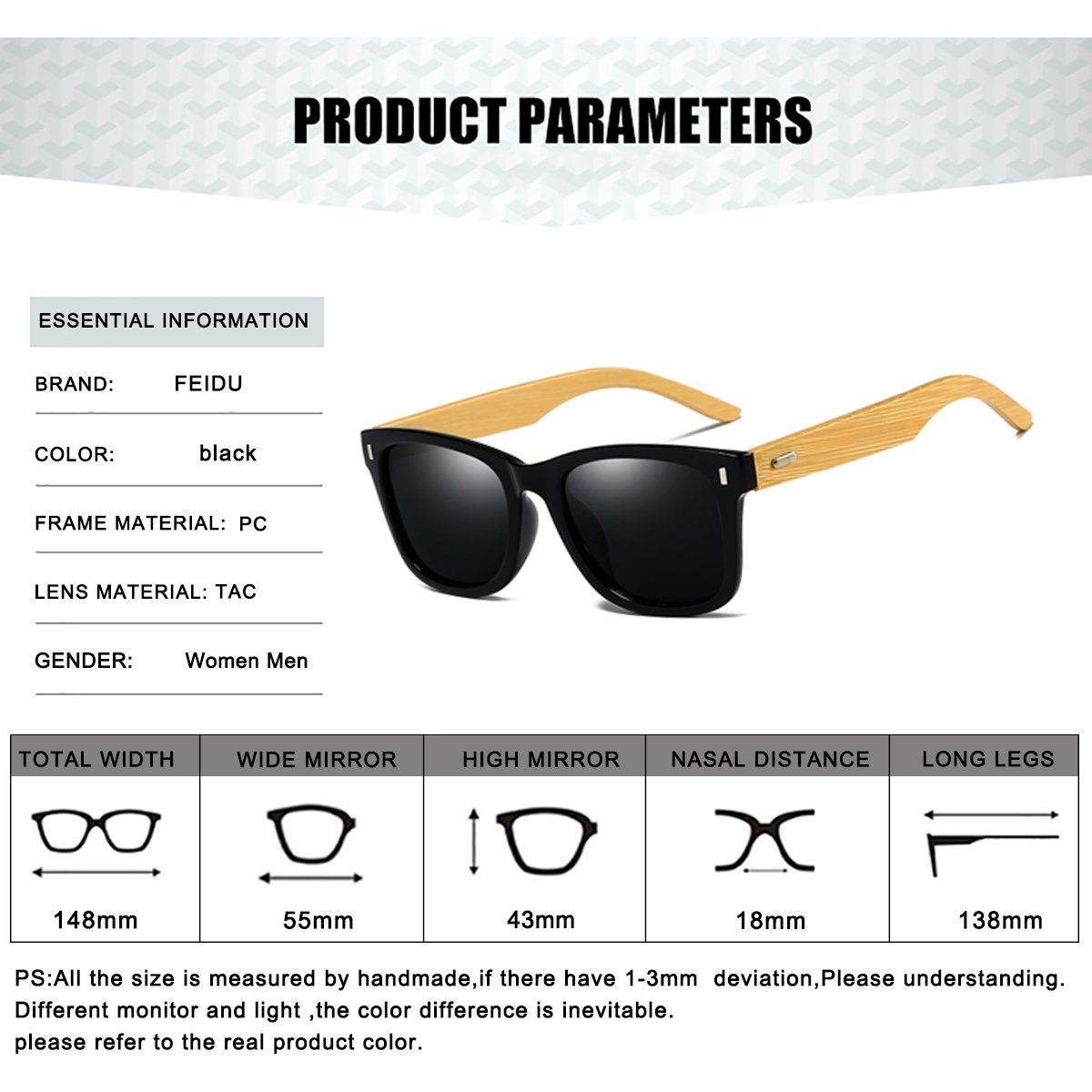 4026a2787a6 Polarized Sunglasses for Men Retro - FEIDU HD Vision Polarized Sunglasses  Mens FD2149 2.08 )