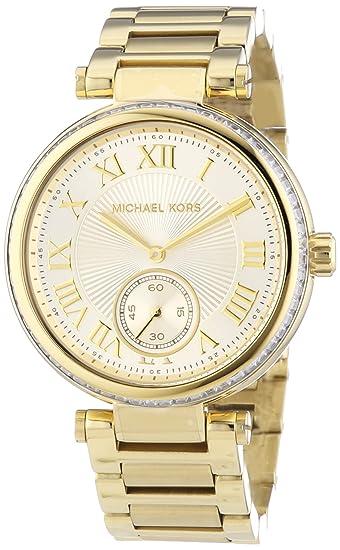 Michael Kors MK5867 - Reloj de Cuarzo para Mujer, con Correa de Acero Inoxidable, Color Dorado: Michael Kors: Amazon.es: Relojes