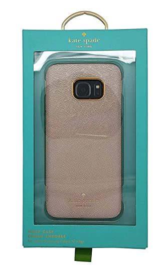 newest 34904 575cb Kate Spade New York Wrap Case for Samsung S7 Edge in Saffiano Rose Gold  KSSA-025-SRGLD