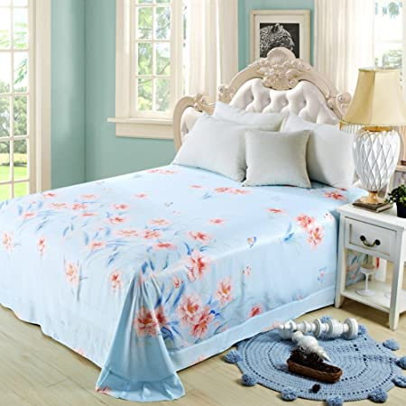 Private Home Textiles Summer Tencel Bedsheets Sleep Naked Double Bed Linen  Health Sheets I 250x250cm