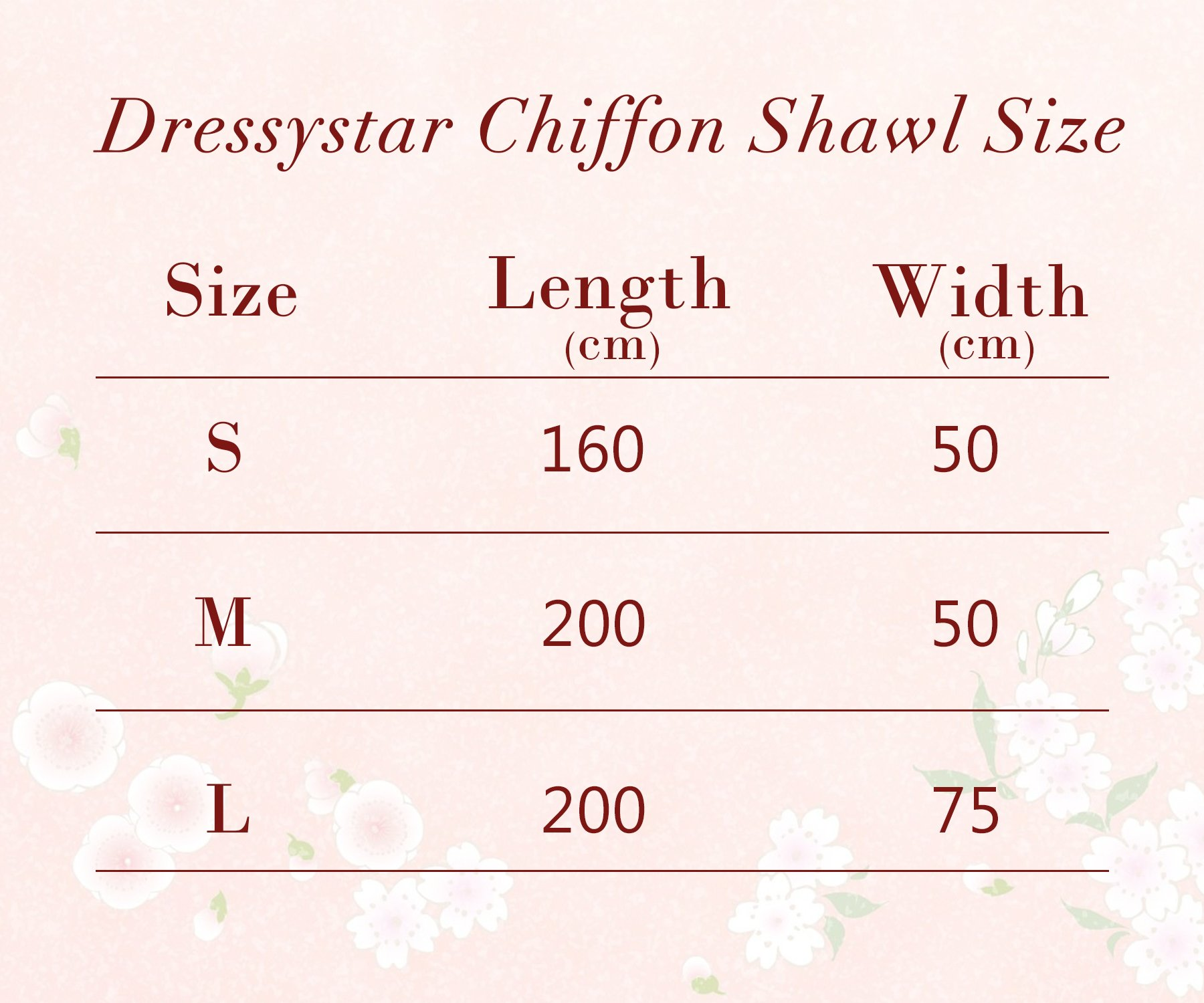 Dressystar Soft Chiffon Shawls Scarves for Bridal Evening Party 25 Colors