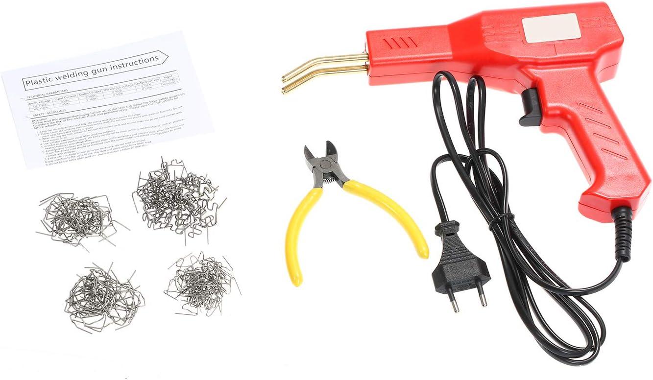 KKmoon 50W Grapadora Caliente Plastico Máquina Kit de Reparación de Parachoques de Automóviles Soldadura Soldador Reparación de Pistola