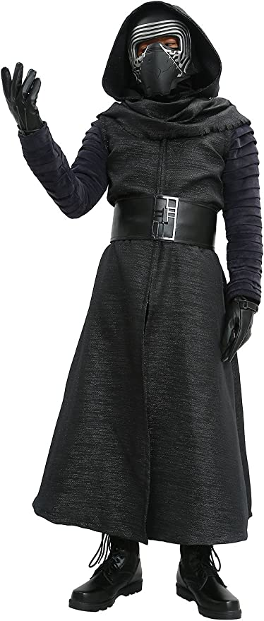 Disfraz de Kylo Ren Negro Fancy Traje de Cosplay Villano Deluxe ...