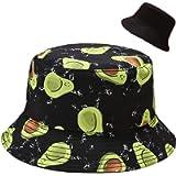 Malaxlx Women Bucket Hat Beach Sun Hat Summer Fishing Hat for Women Teens, Reversible Double-Side Wear