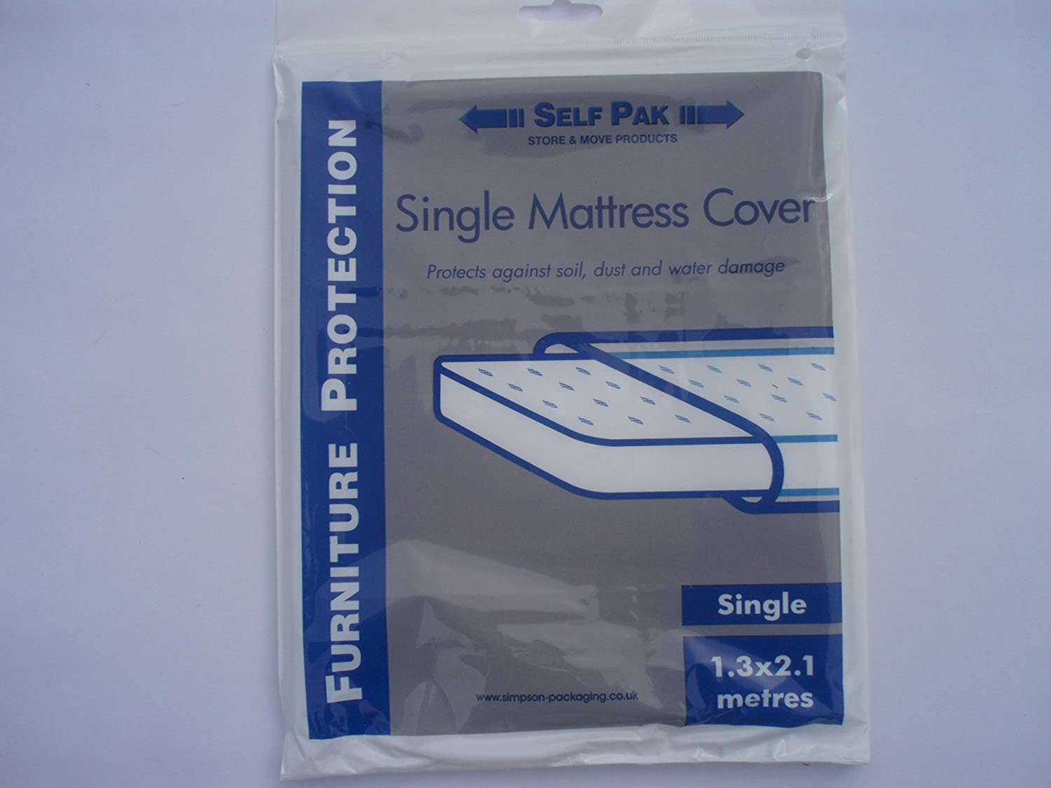 MATTRESS COVER Single for Moving or Storage (Large Polythene Bag) Mooveit MCs