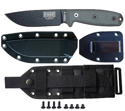 Amazon.com: Esee Modelo de cuchillos 4p-mb – Cuchillo de ...
