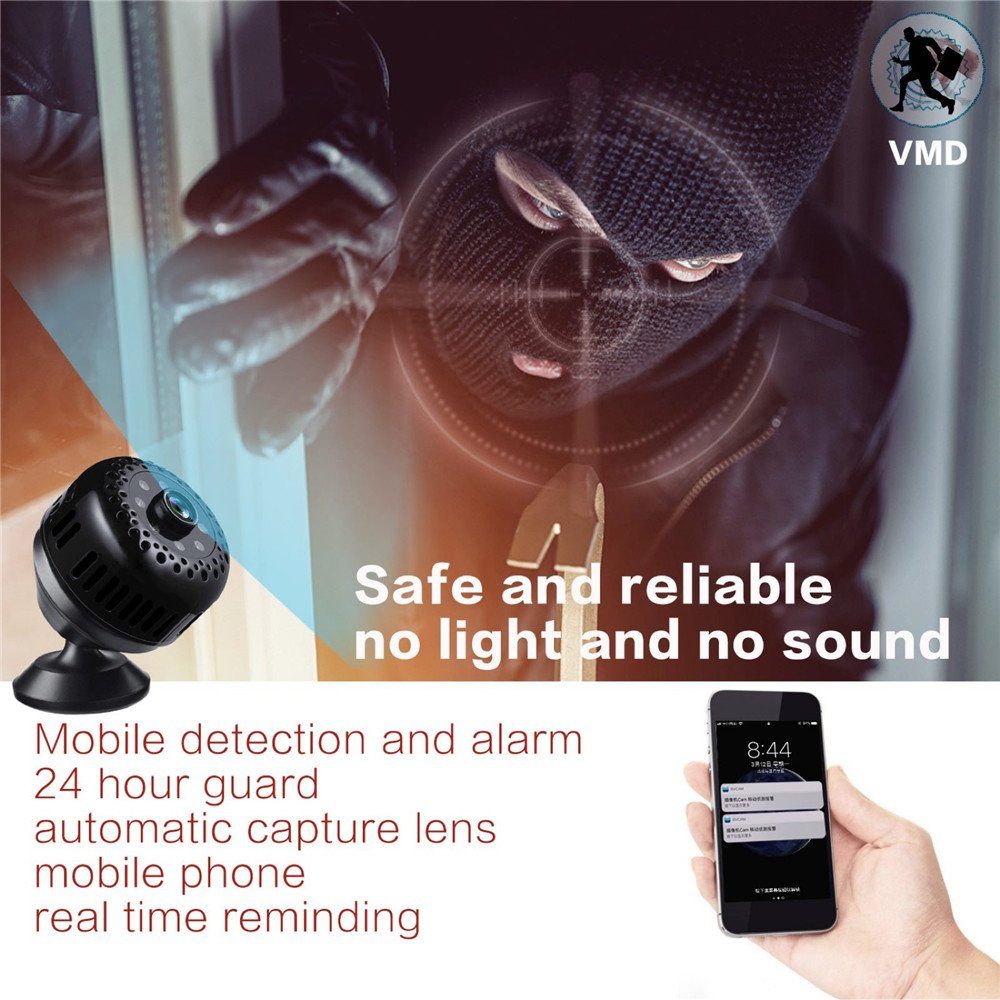Night Vision Wireless Real Time phone View Video Recorder Motion Detection Monitor Mini Cam T66 S-T6 WNAT Hidden Camera 1080P HD Wifi Spy Camera