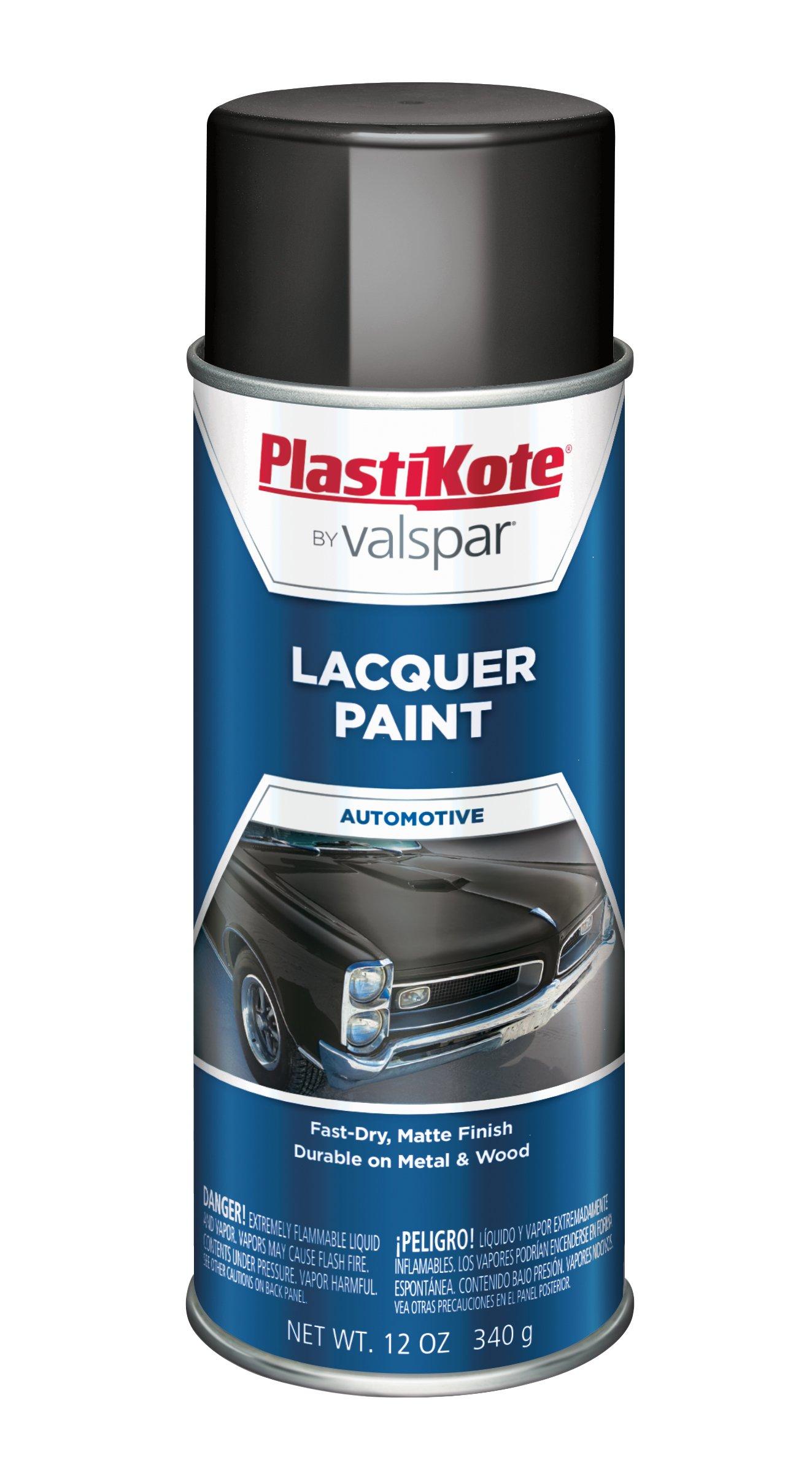 PlastiKote T-3 Hot Rod Black Lacquer Paint - 12 Oz. by PlastiKote