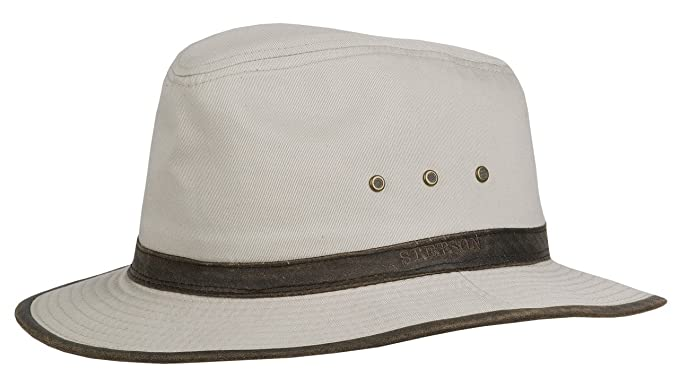 dc82cd3f186 Stetson Ava Cotton Traveller Sun Hat  Amazon.co.uk  Clothing