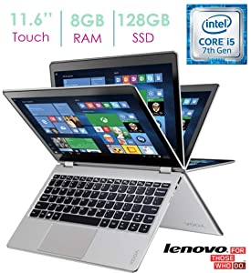 "Lenovo - Yoga 710 2-in-1 80V6000PUS 11.6"" Touch-Screen Laptop - Intel 7th Generation Core i5-7Y54-8GB Memory - 128GB Solid State Drive - Silver"