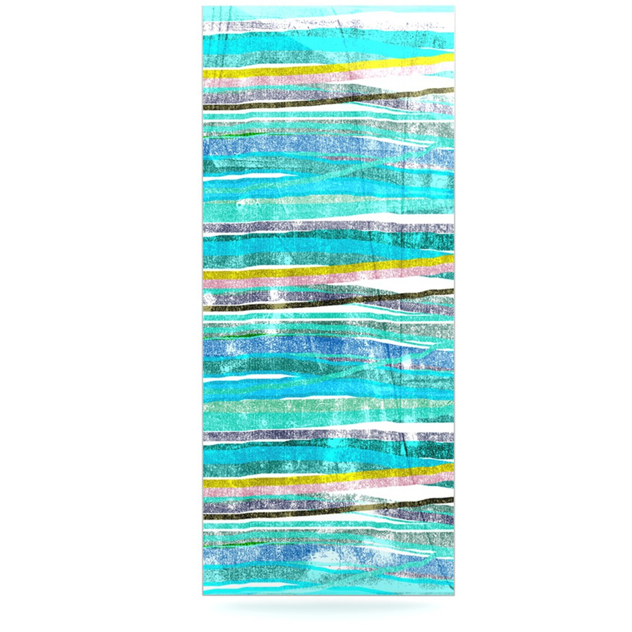 24 x 36 Kess InHouse Frederic Levy-Hadida Fancy Stripes Acqua Luxe Rectangle Panel