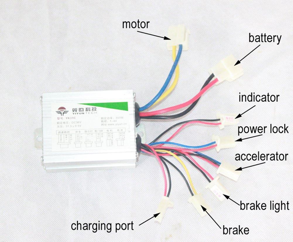 36v Electric Skateboard Wiring Diagram Electrical Diagrams Motorcycle 24v Lights Amazon Com 350w Dc Motor Diy
