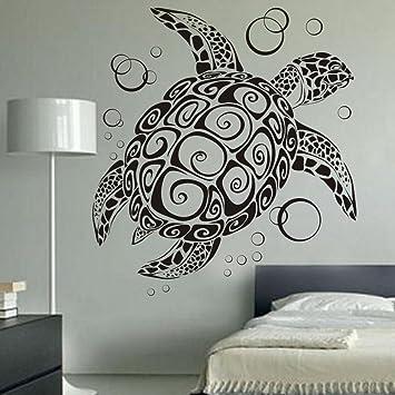 Sea Turtle Ocean Wall Decal Turtle Wall Sticker Under The Sea Animals Wall  Decor Vinyl Tortoise Part 55