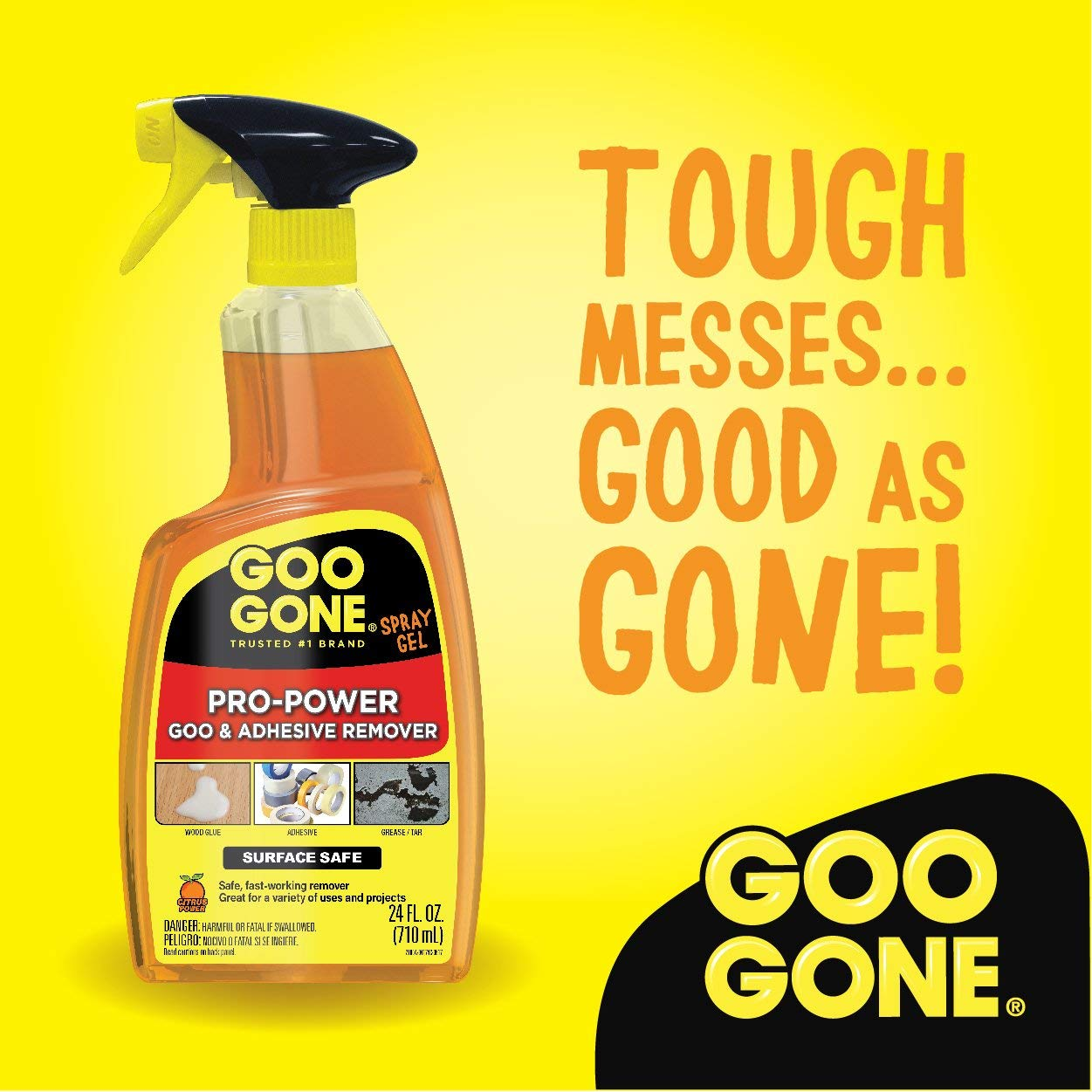 Goo Gone IUGYH Pro-Power Spray Gel - 24 Ounce - Surface Safe, Great Cleaner, No Harsh Odors, Removes Stickers, Can Be Used On Tools 2 Pack by Goo Gone (Image #4)
